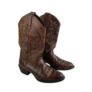 Ariat Brown 34725 Leather Western Cowboy Boots 7.5